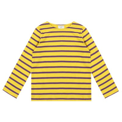 STRIPE BOAT NECK: YELLOW