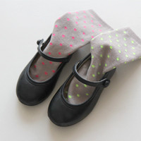 LITTLE NEON DOT SOCKS <br/>