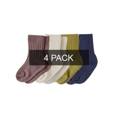 TODDLER RIBBED SOCKS: 4PACK