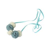 pastel pompom necklace <br/>