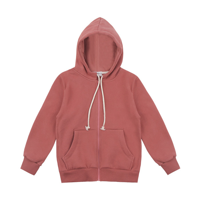 napping Hoodies zip up: Pink Rose