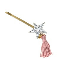 maple tassel pin: silver <br/>
